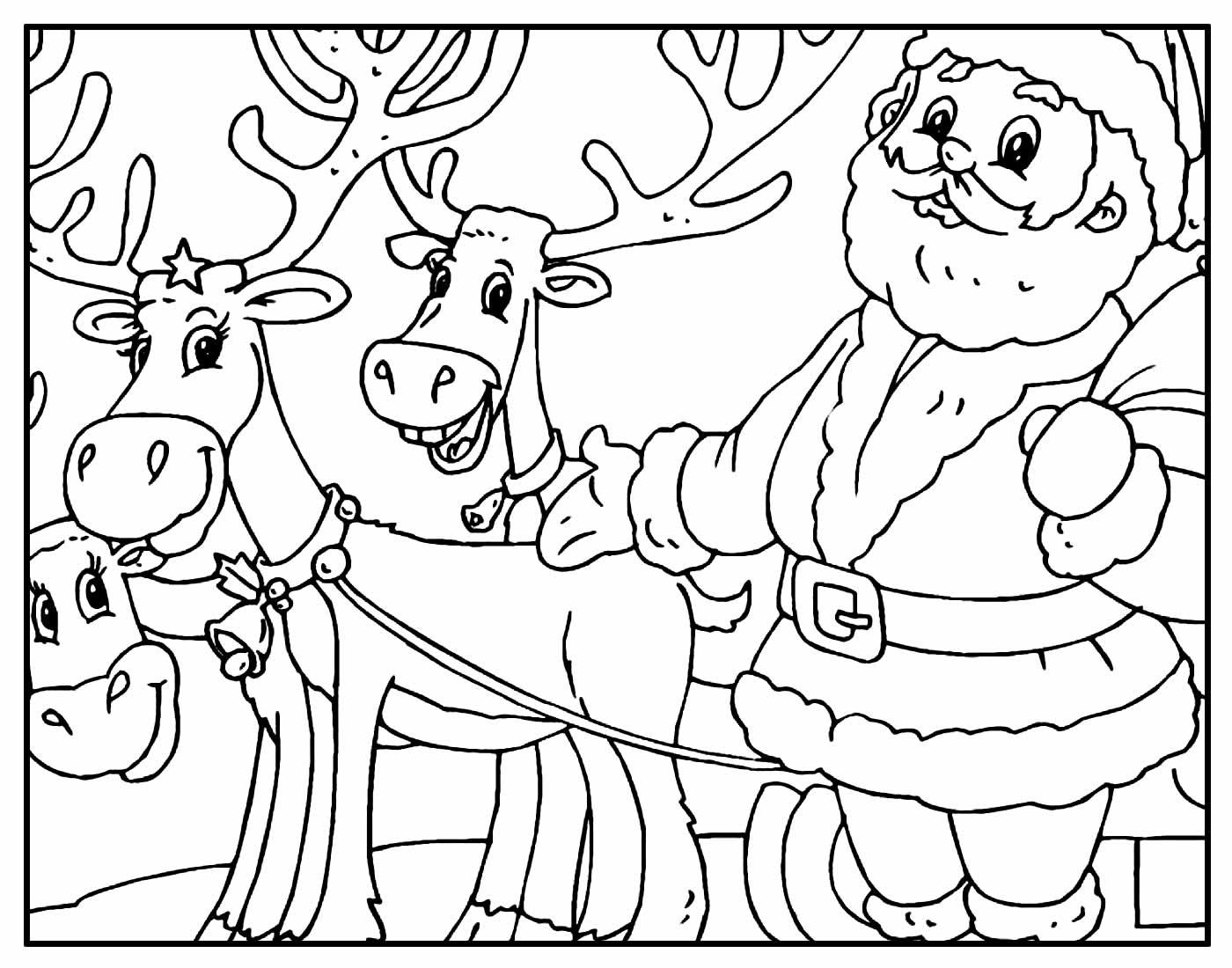 Página para colorir de Papai Noel