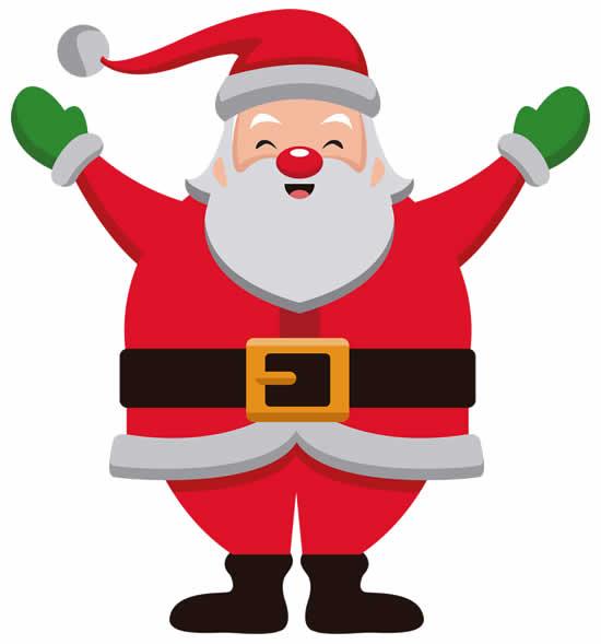 Desenho de Papai Noel
