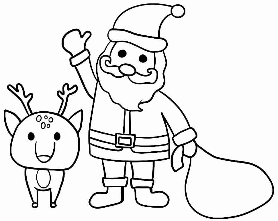 Desenho do Papai Noel para pintar