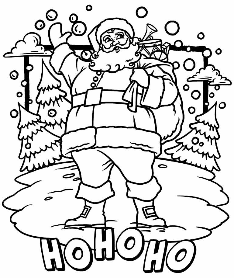 Imagem do Papai Noel para pintar