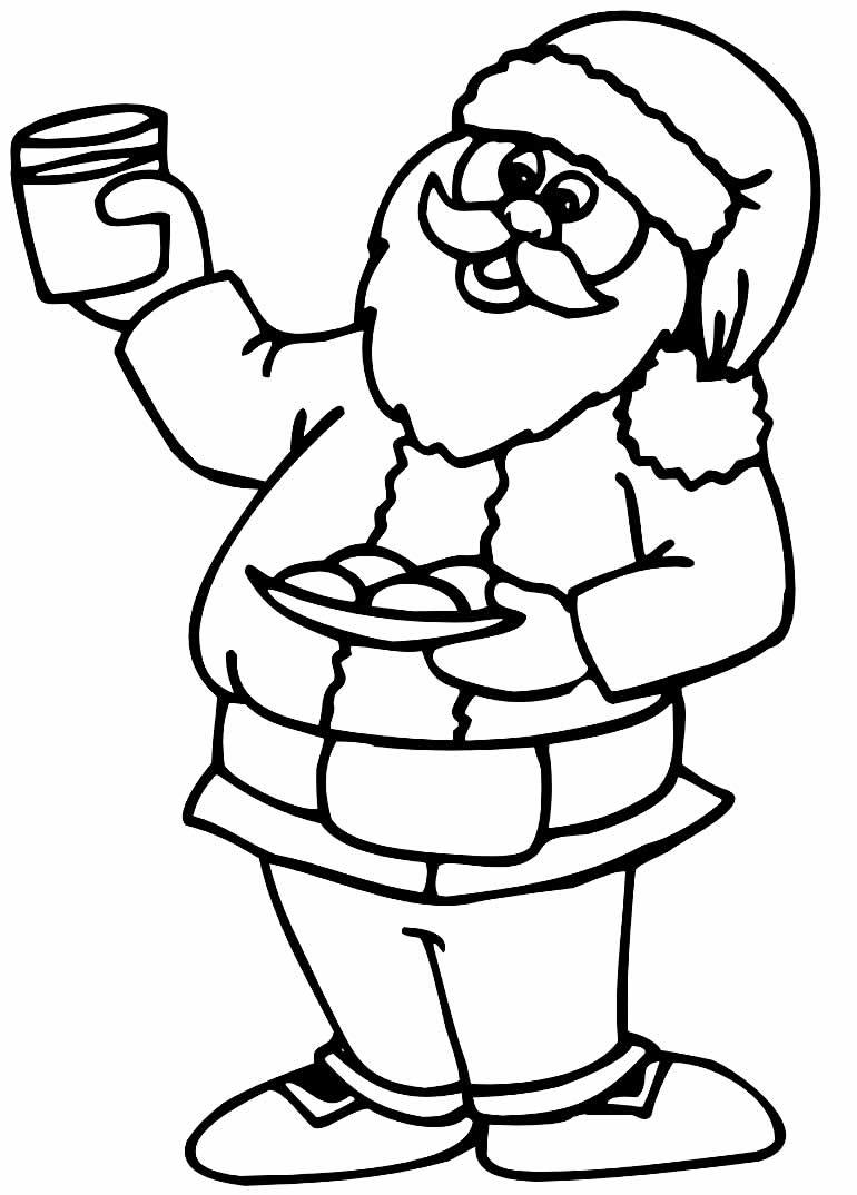 Imagem do Papai Noel para colorir
