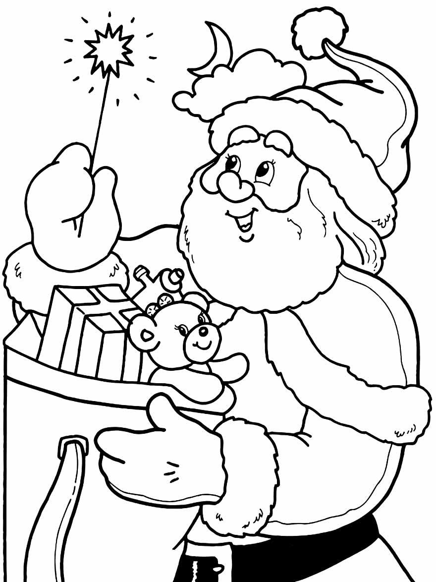 Desenho de Papai Noel para pintar e colorir