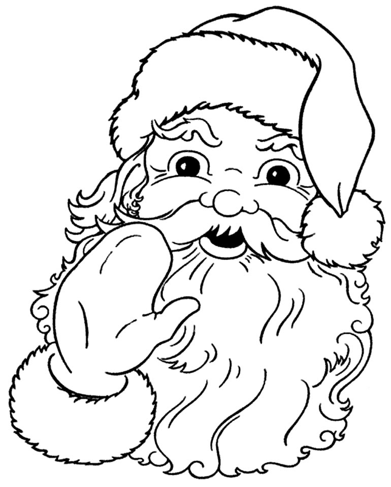 Desenho fofo do Papai Noel para colorir