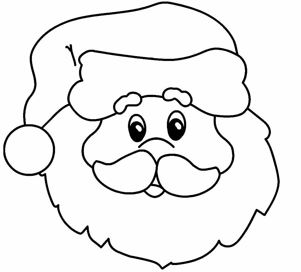 Desenho para colorir de Papai Noel
