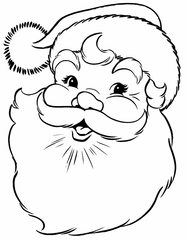 Desenho para pintar de Papai Noel