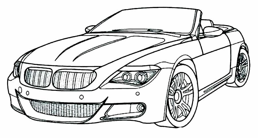 Desenho de carro para imprimir e colorir
