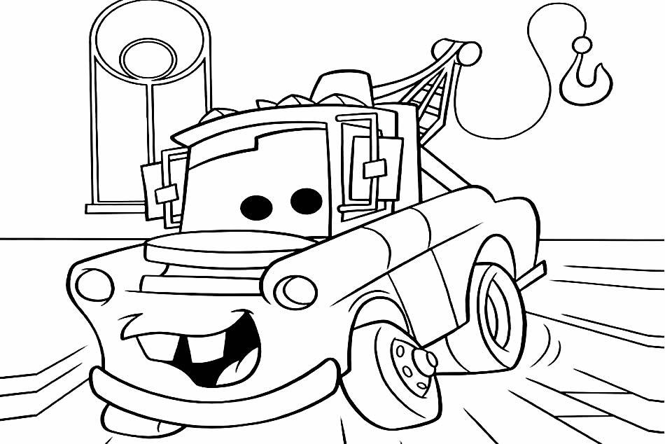 Desenho de carro para pintar e colorir