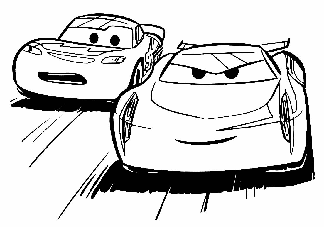 Molde de carro para colorir
