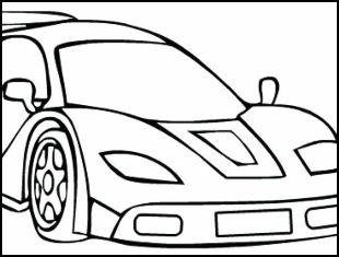 20 desenhos de carros para colorir e imprimir