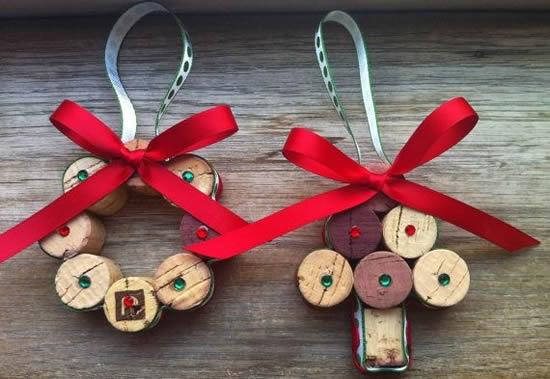 Artesanatos com rolhas para o Natal