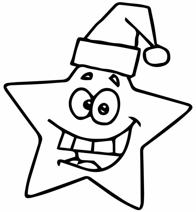 Estrela de Natal para colorir
