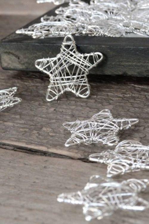 Estrelas de arame para o natal