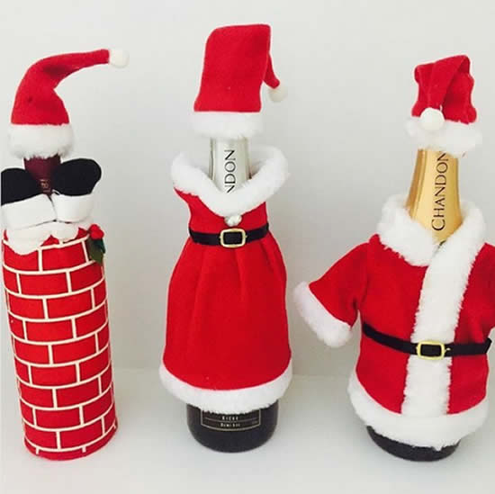 Decoração natalina com garrafas