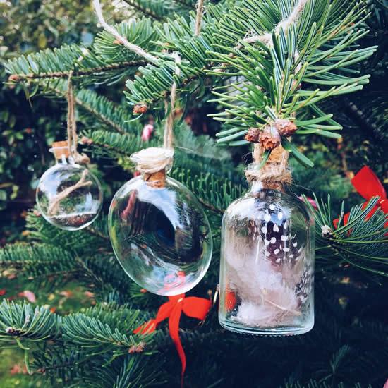 Decoração criativa com garrafas para o Natal