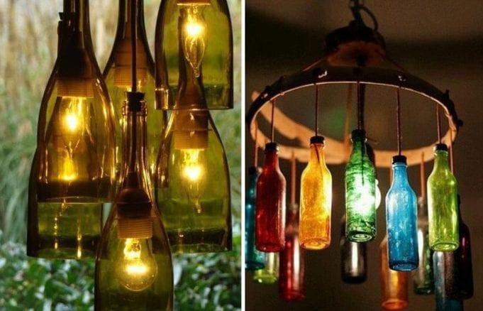 luminárias de móbiles com garrafas de vidro recicladas (2)