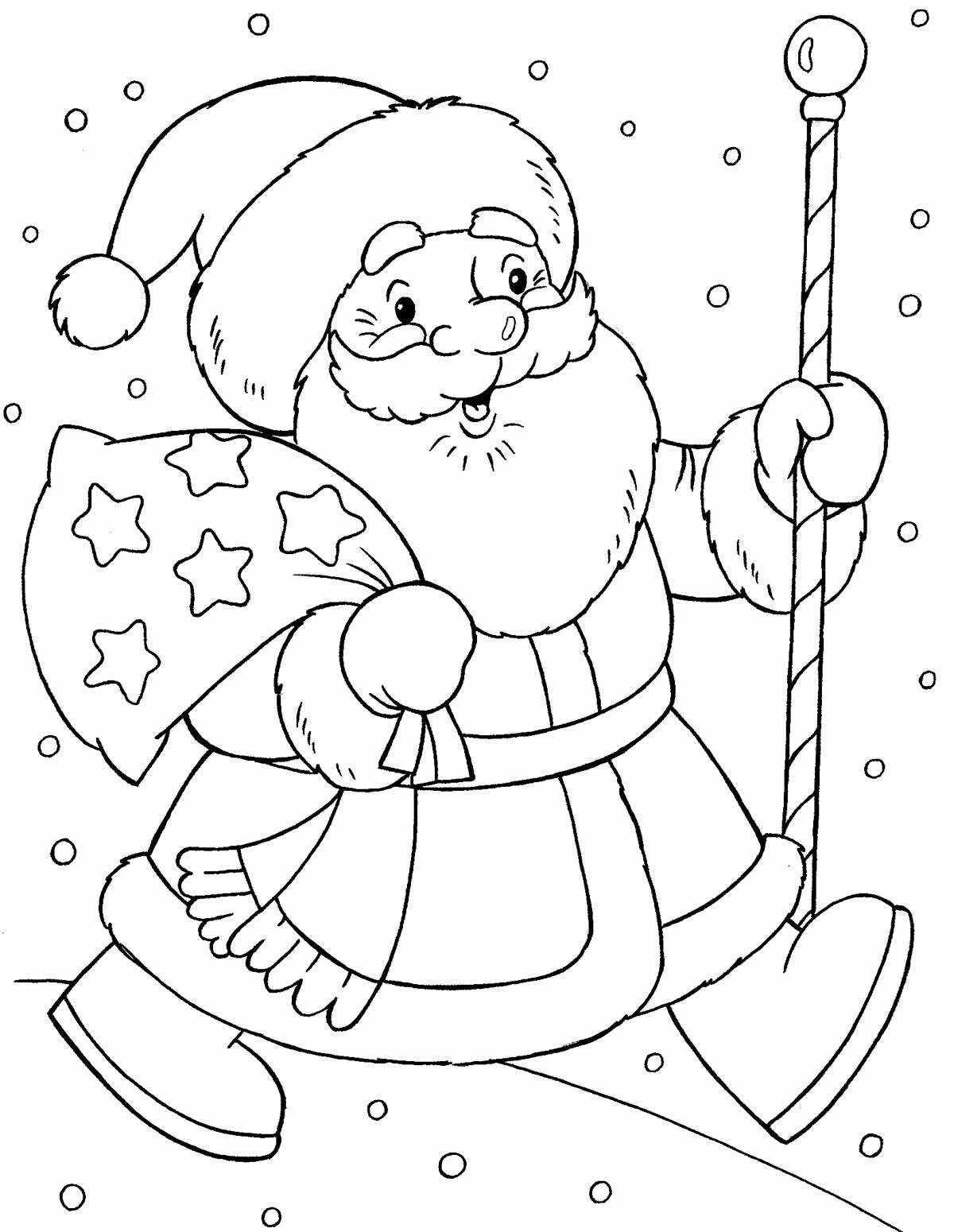 Moldes e desenhos de Papai Noel