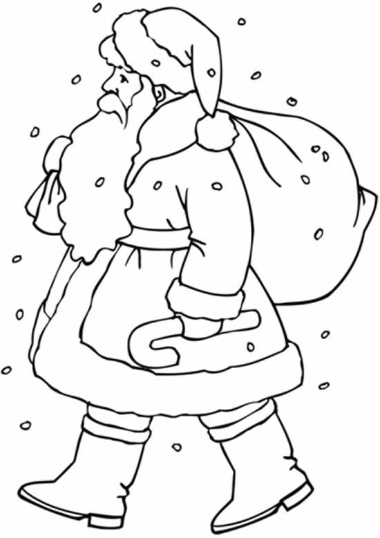 Lindo molde de Papai Noel para colorir