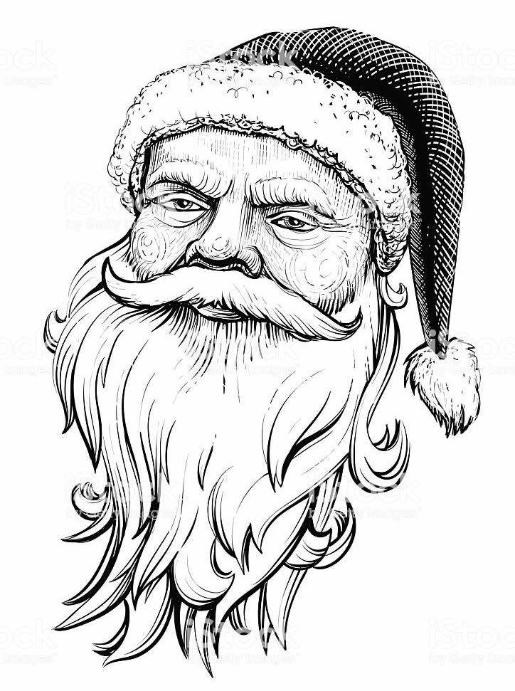 Papai Noel de colorir