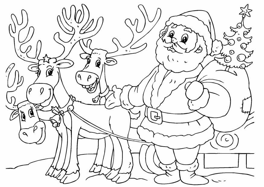 Molde de Papai Noel para colorir com as crianças