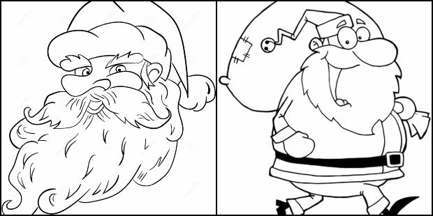 Desenhos De Papai Noel Para Colorir Como Fazer Em Casa