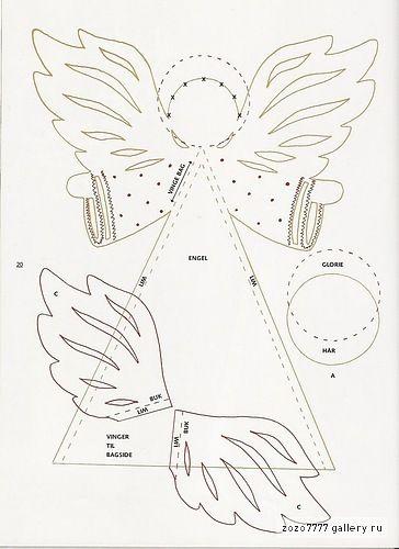 Moldes de anjinhos para o natal
