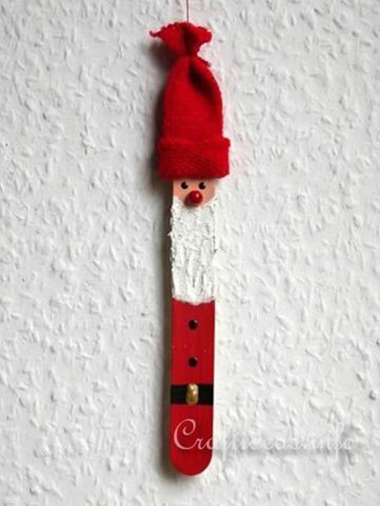 Papai Noel com palito