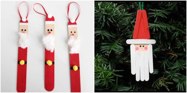 10 ideias de Papai Noel com palitos de picolé