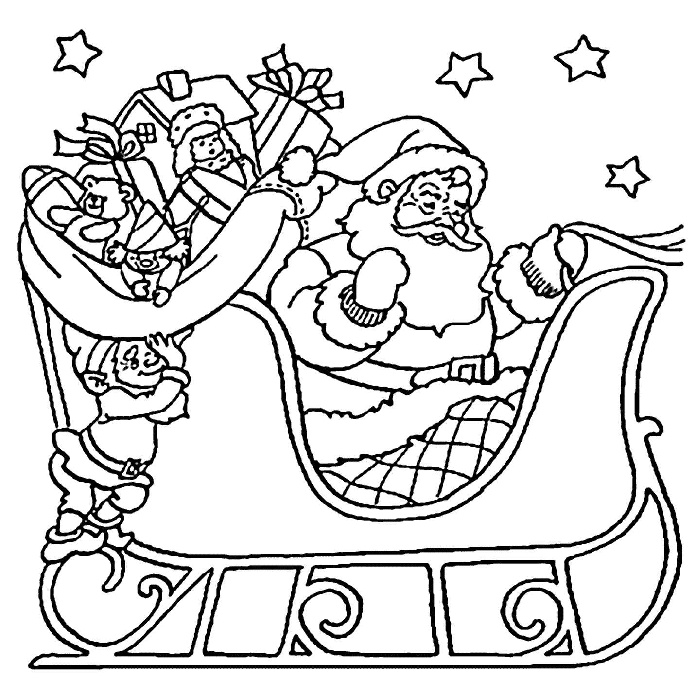 Desenhos De Papai Noel Com Treno Para Pintar Como Fazer Em Casa