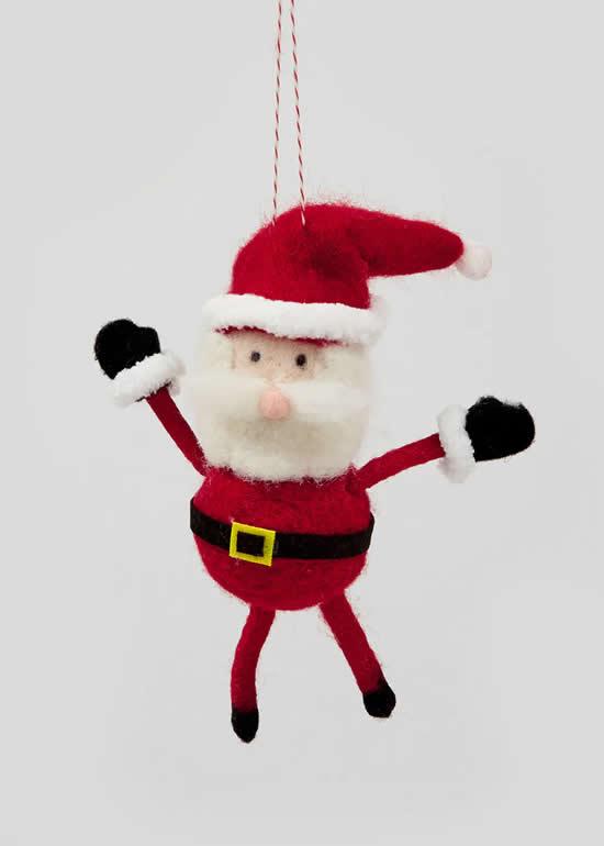 Papai Noel lindo com feltro