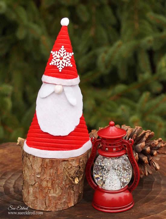 Enfeite de Papai Noel com feltro