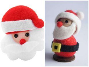 10 ideias lindas de Papai Noel com feltro