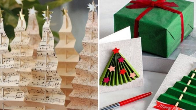 aaaaa Mini árvores de natal de papel (2)