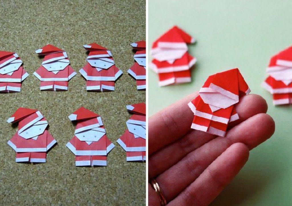 Papai Noel em origami