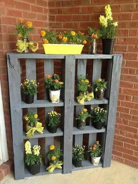 Decoração de pallets para jardim