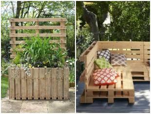Decoração para o jardim com pallets
