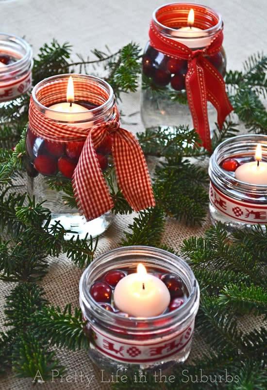 Vela decorada para Natal