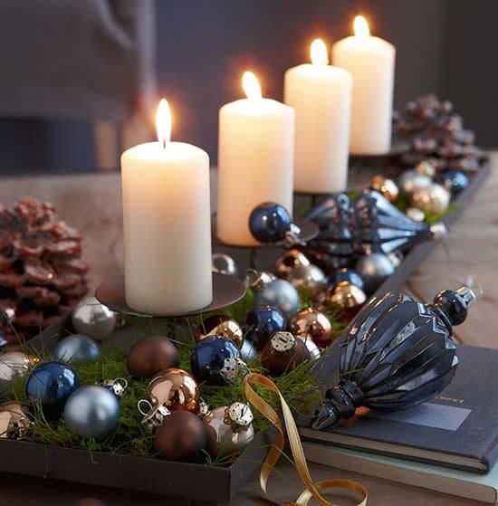 Lindas velas para decoração de Natal