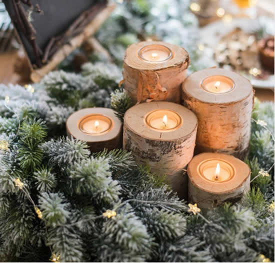 Velas decoradas para Natal