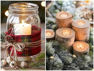 Decoração com velas para Natal