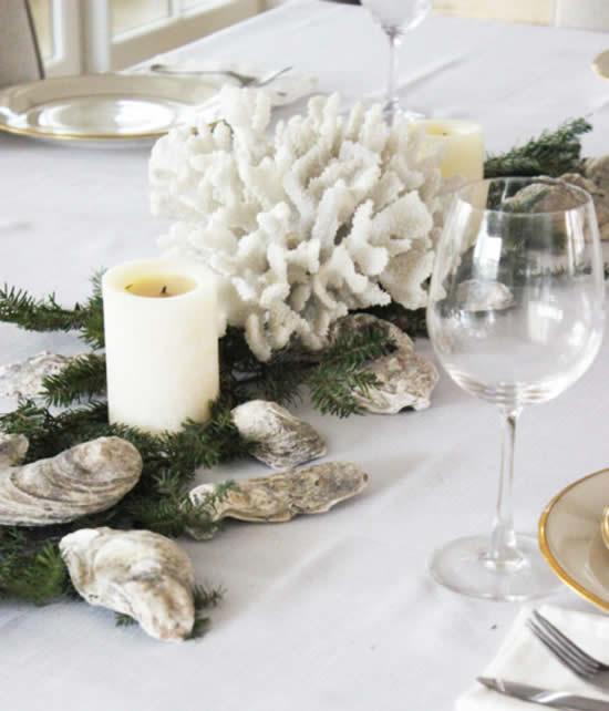 Decoração linda de mesa para o Natal
