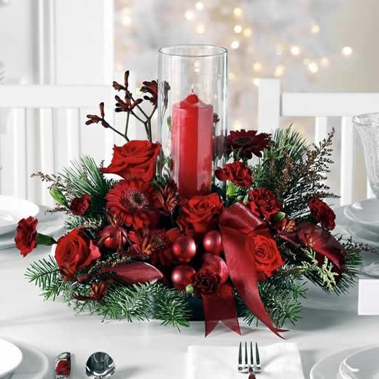 Enfeite para mesa de Natal