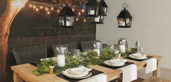 Decoração linda para mesa de Natal