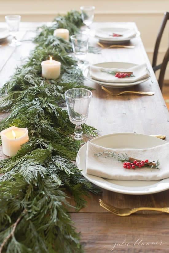 Decore sua mesa no Natal