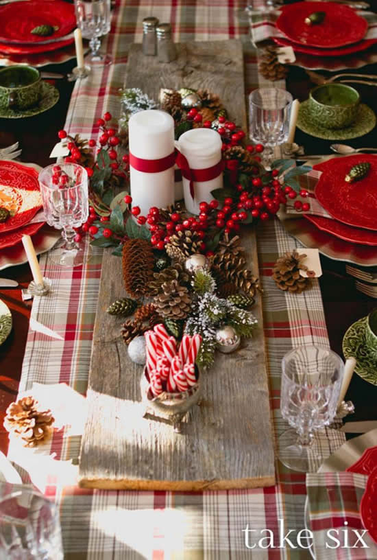 Decoração de Natal para mesa linda