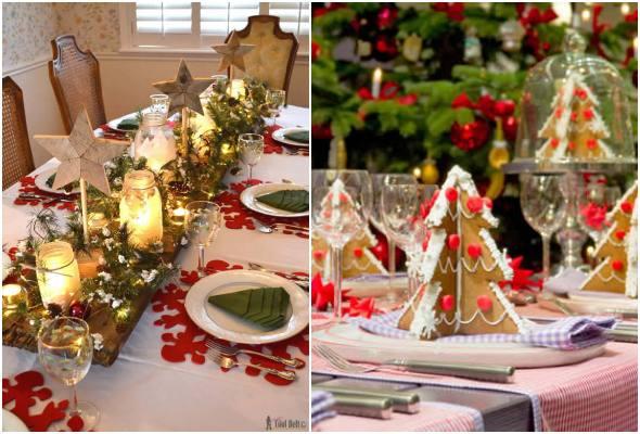 decoração natalina de mesas