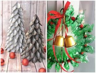 Decoração de Natal com sucata