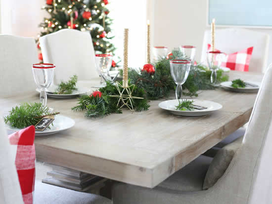 Decoração para mesa de Natal