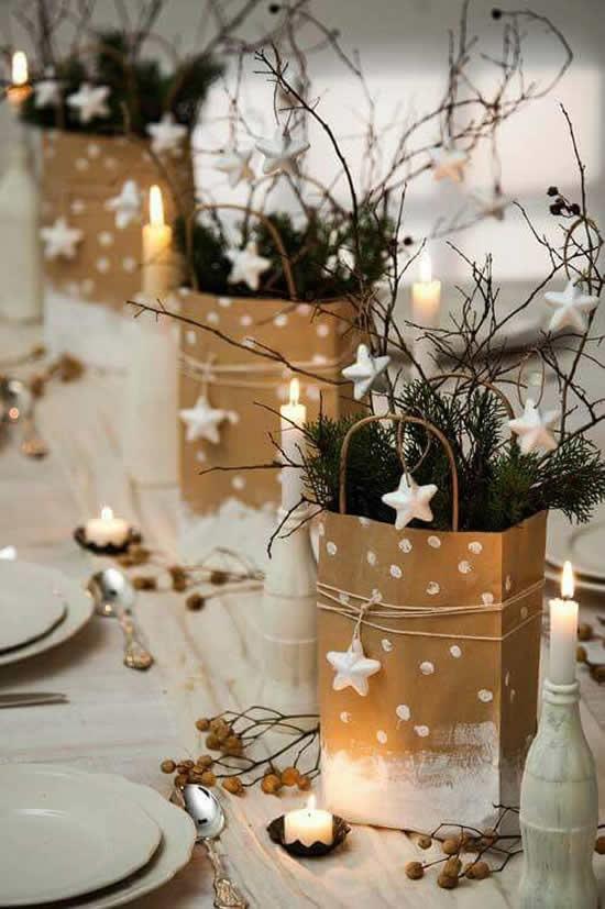 Enfeites criativos para mesa de Natal