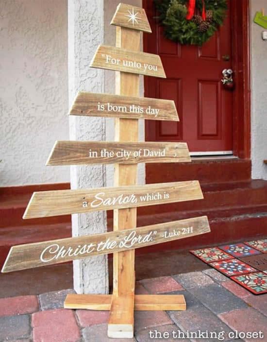 Decoração para a casa de Natal rústica
