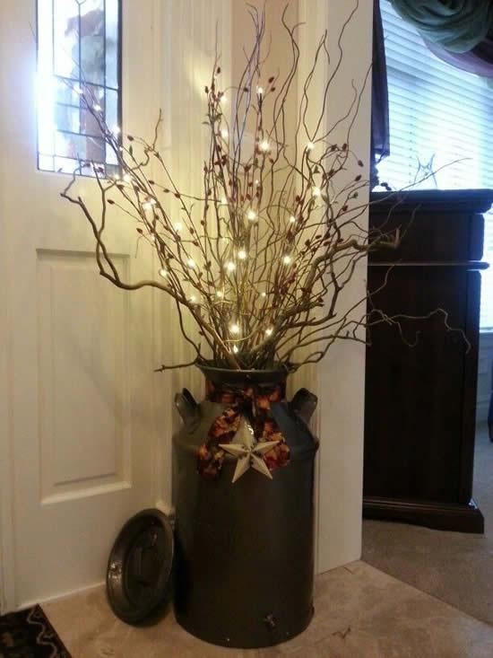 Decoração para Árvore de Natal rústica